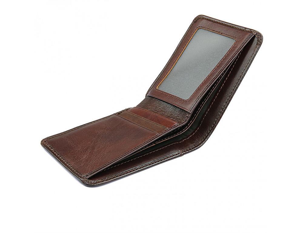 Мужской кожаный кошелёк S.J.D. 8160-3C - Фото № 3
