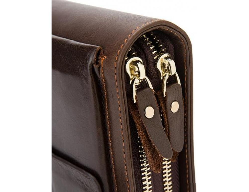 Мужской кожаный клатч Bexhill Bx9069-1C тёмно-коричневый - Фото № 12