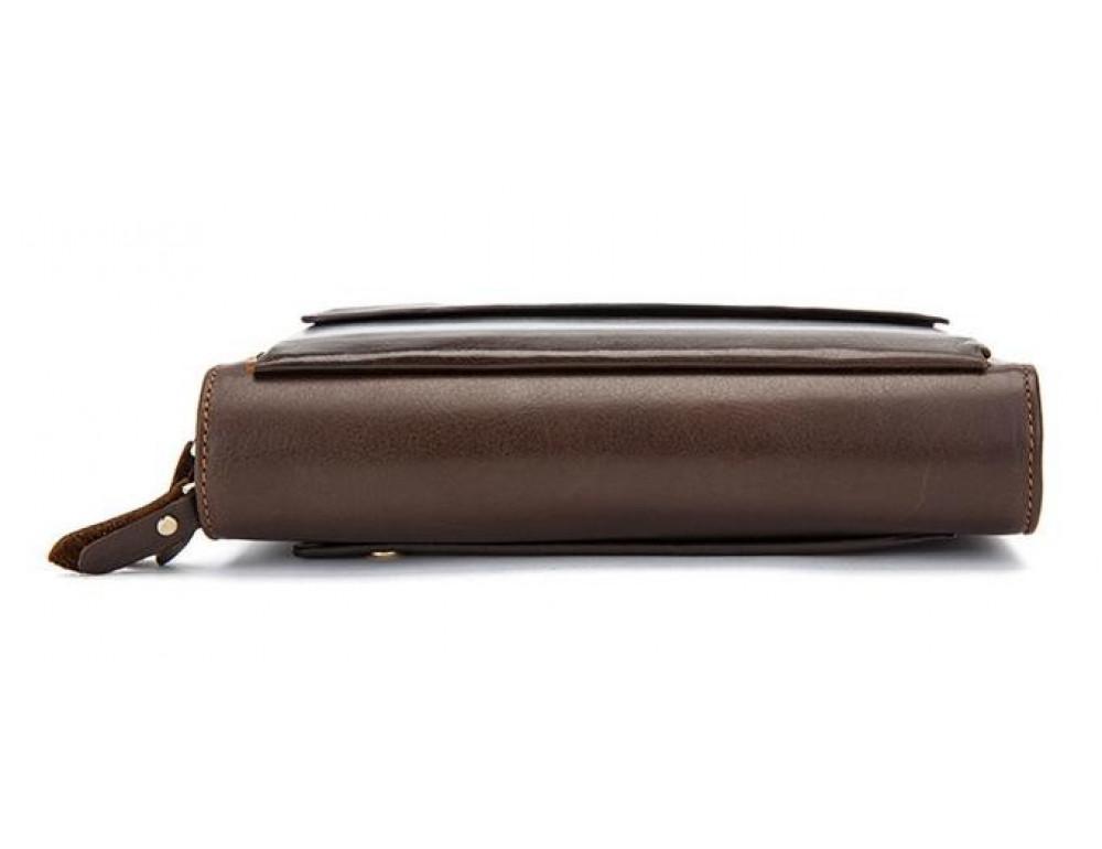 Мужской кожаный клатч Bexhill Bx9069-1C тёмно-коричневый - Фото № 9