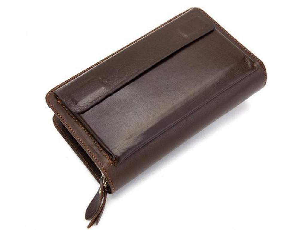 Мужской кожаный клатч Bexhill Bx9069-1C тёмно-коричневый - Фото № 10