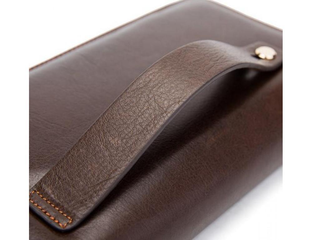 Мужской кожаный клатч Bexhill Bx9069-1C тёмно-коричневый - Фото № 11