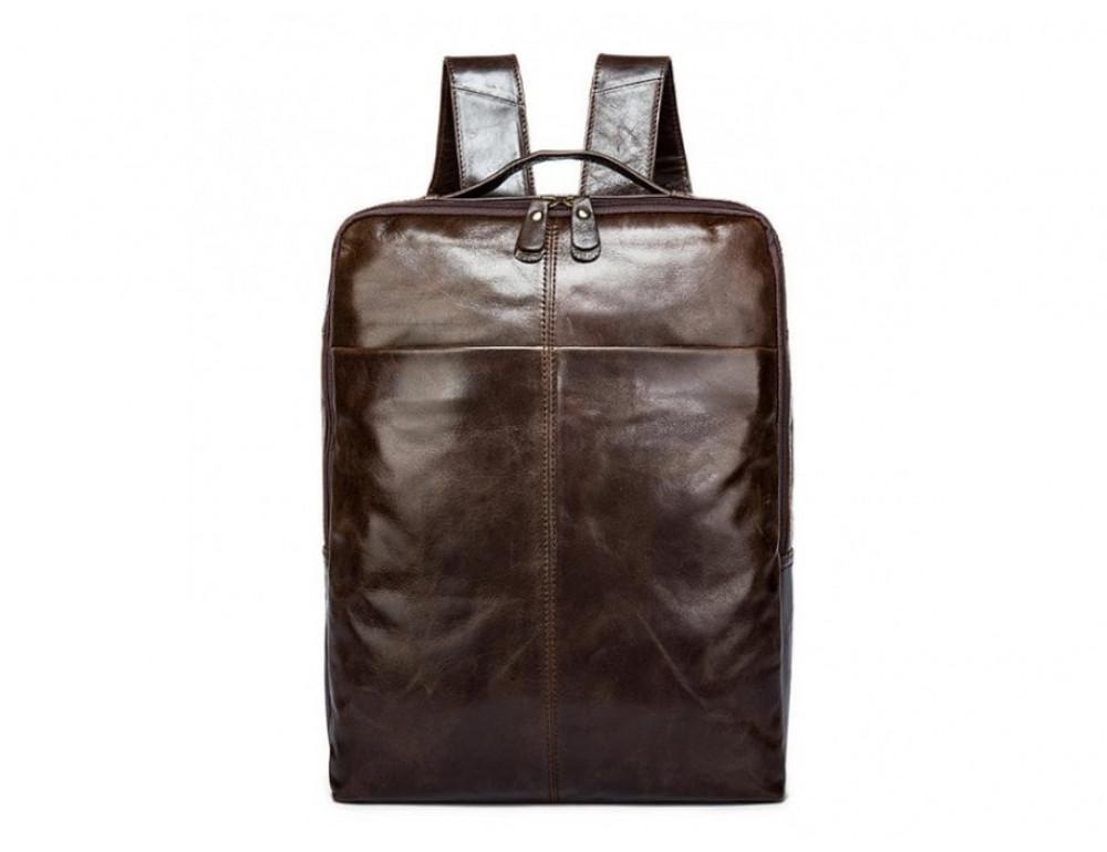 Мужской кожаный рюкзак TIDING BAG 7280C коричневый - Фото № 3