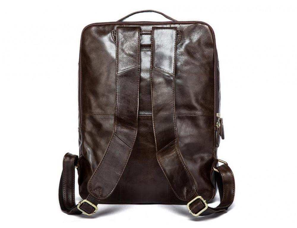 Мужской кожаный рюкзак TIDING BAG 7280C коричневый - Фото № 5