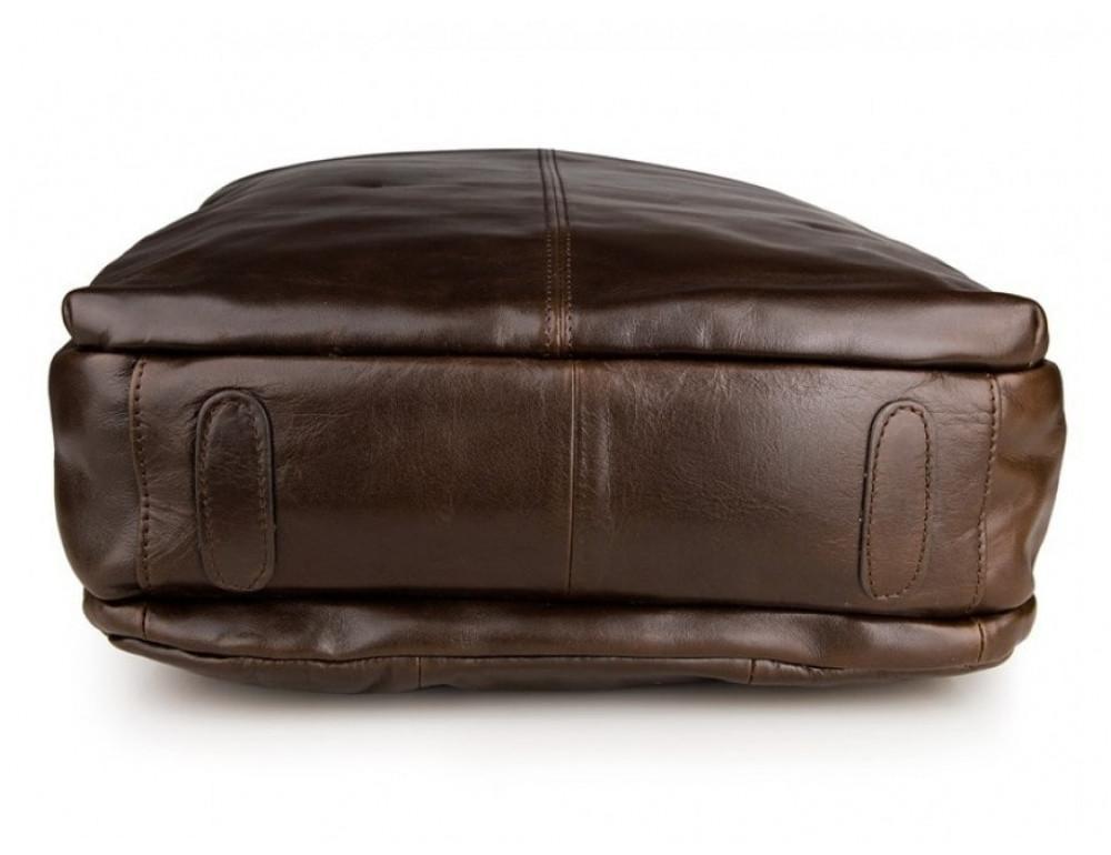 Мужской кожаный рюкзак TIDING BAG 7280C коричневый - Фото № 6