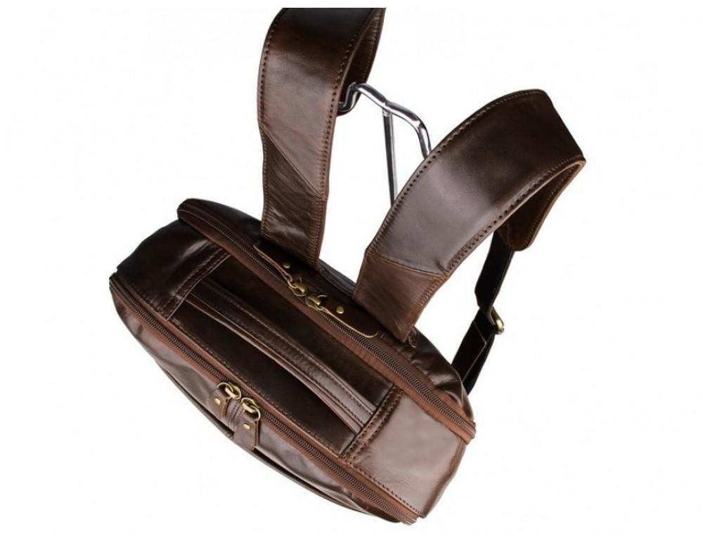 Мужской кожаный рюкзак TIDING BAG 7280C коричневый - Фото № 8