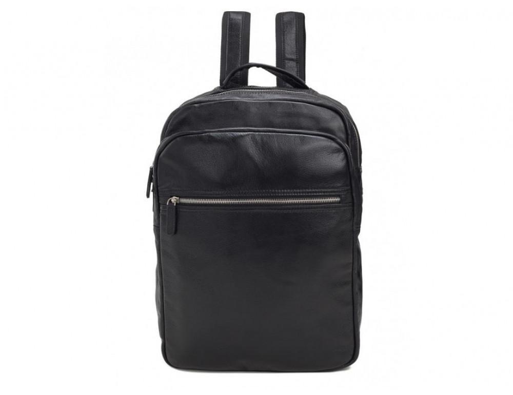 Мужской кожаный рюкзак TIDING BAG M864A чёрный - Фото № 3