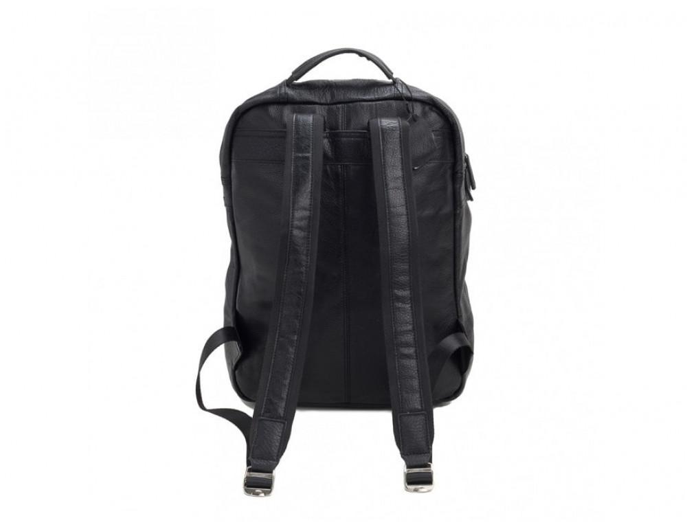 Мужской кожаный рюкзак TIDING BAG M864A чёрный - Фото № 4