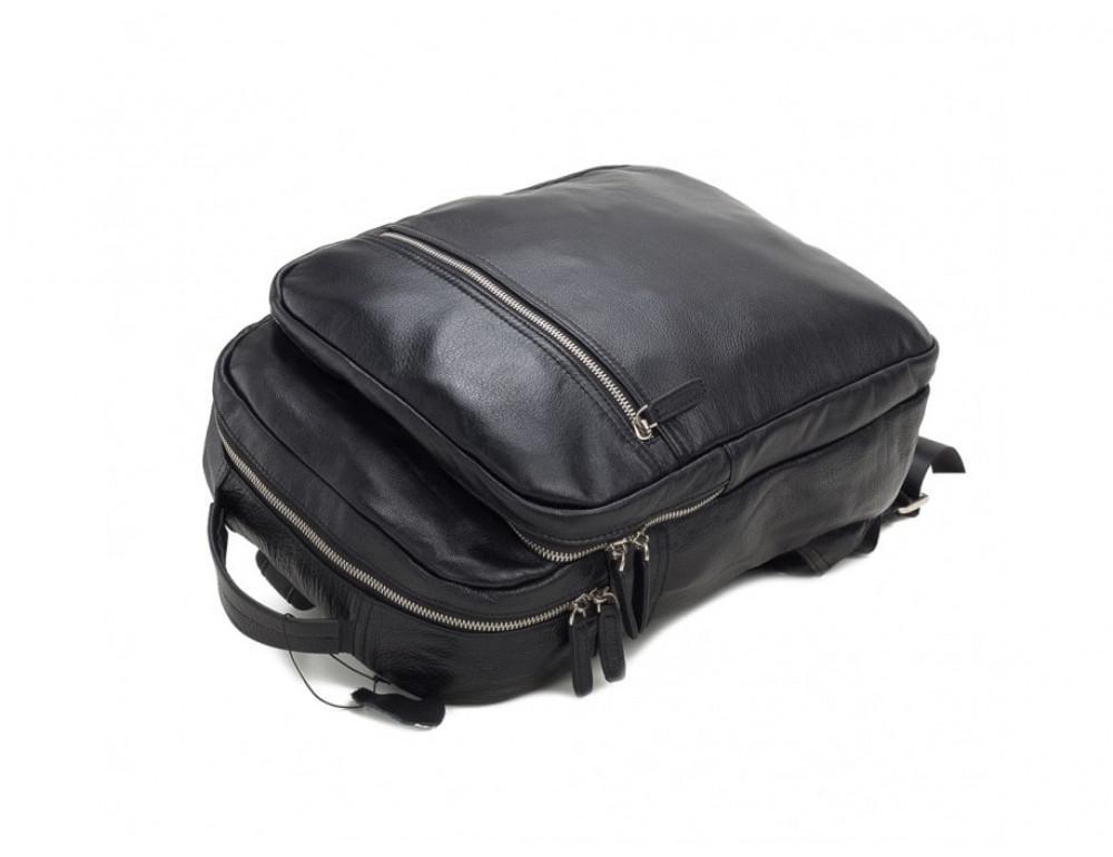 Мужской кожаный рюкзак TIDING BAG M864A чёрный - Фото № 5
