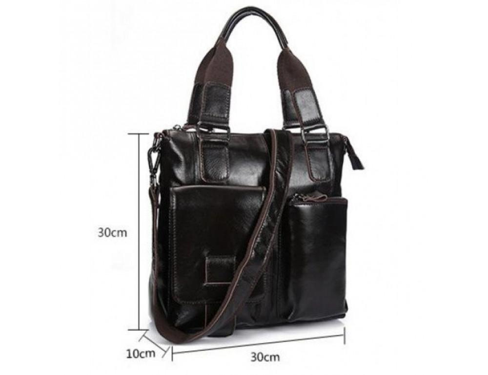 Мужская сумка кожаная через плечо Bexhill L259 - Фото № 2