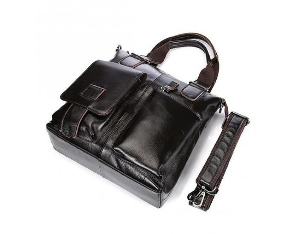 Мужская сумка кожаная через плечо Bexhill L259 - Фото № 4