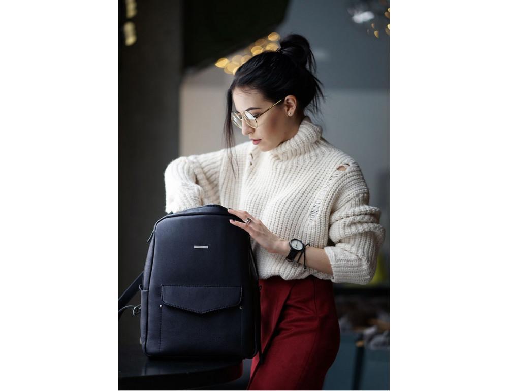 Кожаный женский рюкзак blanknote мистик BN-BAG-19-mystic - Фото № 2