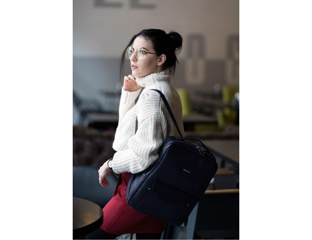 Кожаный женский рюкзак blanknote мистик BN-BAG-19-mystic - Фото № 4