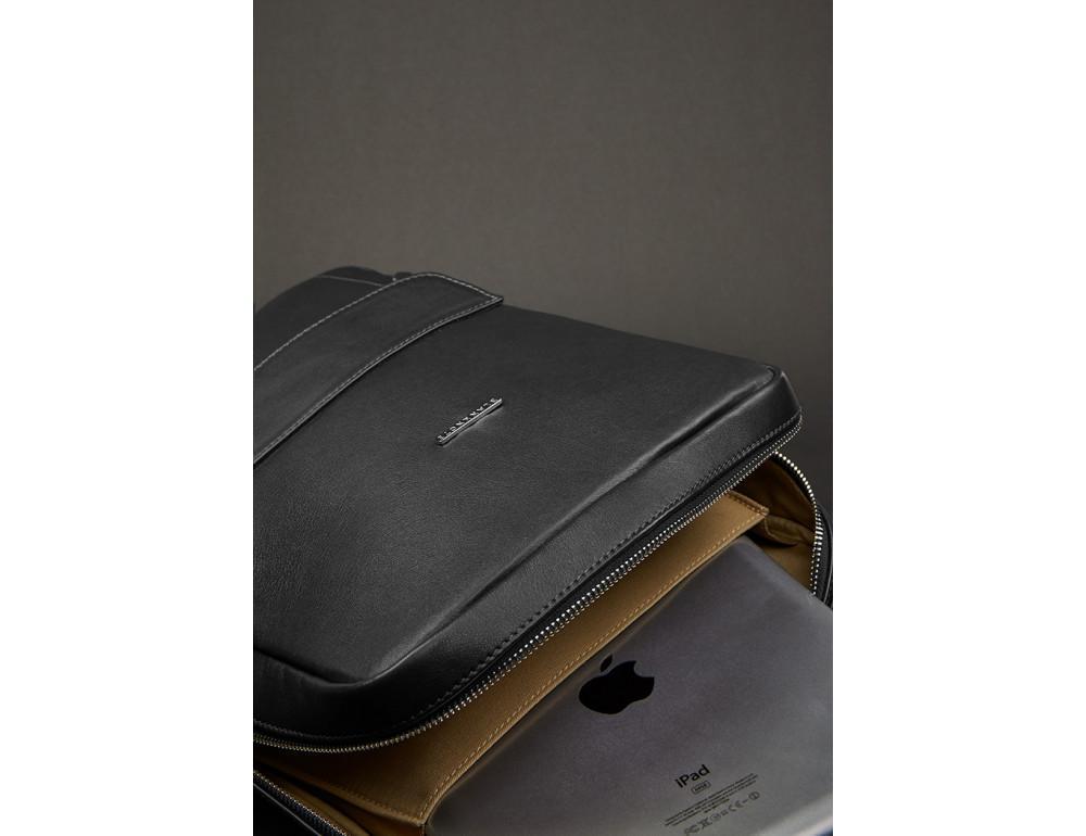 Кожаный женский рюкзак чёрного цвета Blanknote НУАР BN-BAG-19-NOIR - Фото № 3