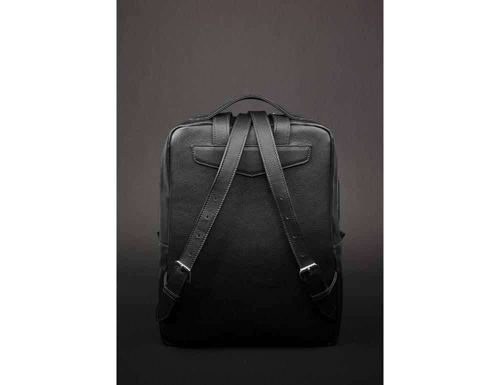 Кожаный женский рюкзак чёрного цвета Blanknote НУАР BN-BAG-19-NOIR - Фото № 4