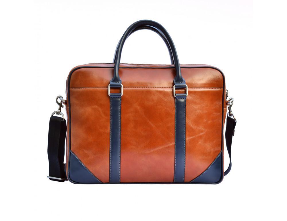 Мужской кожаный портфель Issa Hara B14 04-03 - Фото № 2