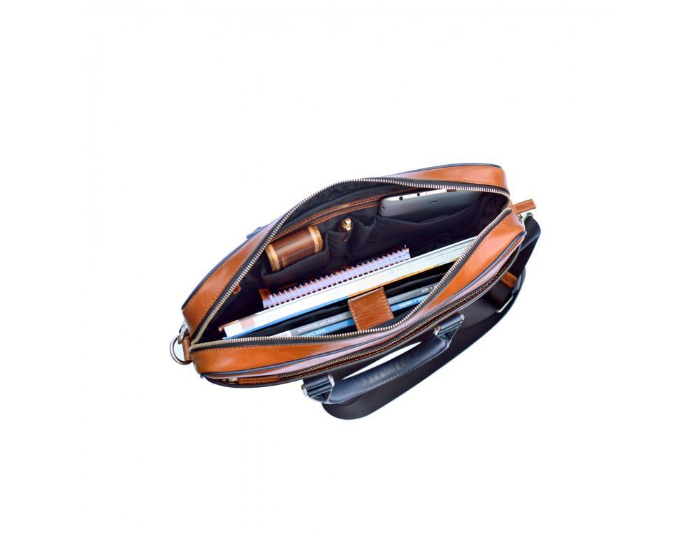 Мужской кожаный портфель Issa Hara B14 04-03 - Фото № 4