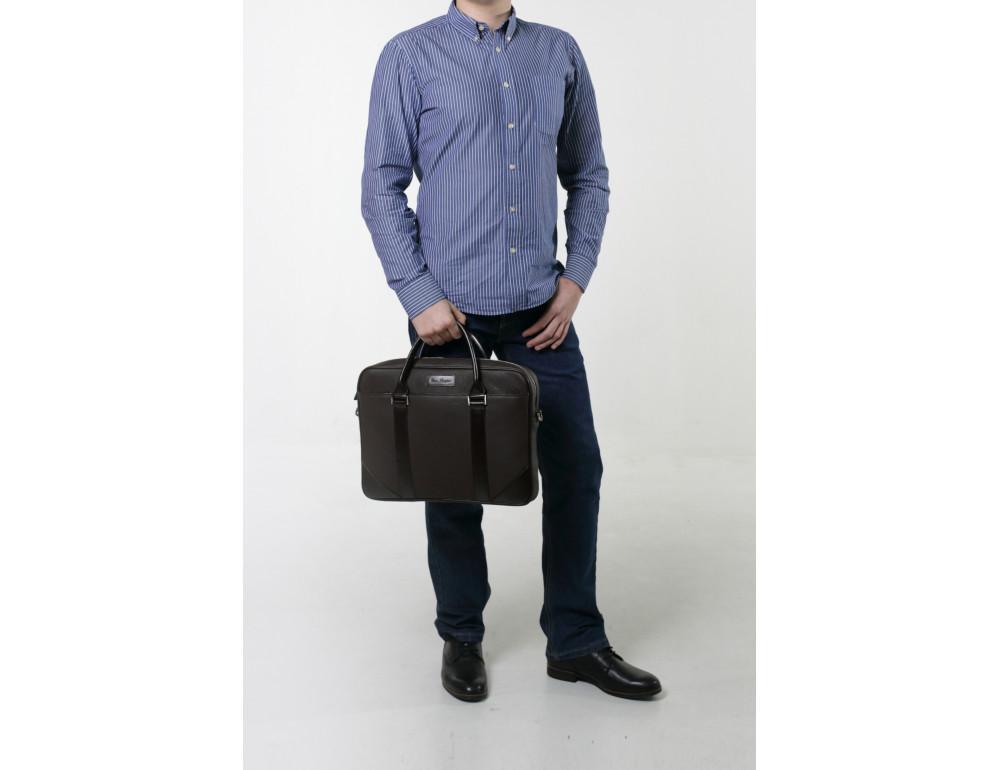 Мужской кожаный портфель Issa Hara B14 04-03 - Фото № 5