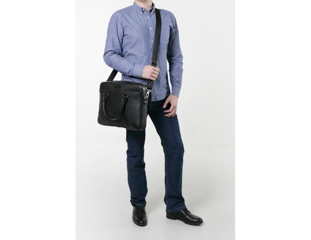 Мужской кожаный портфель Issa Hara B14 04-03 - Фото № 6