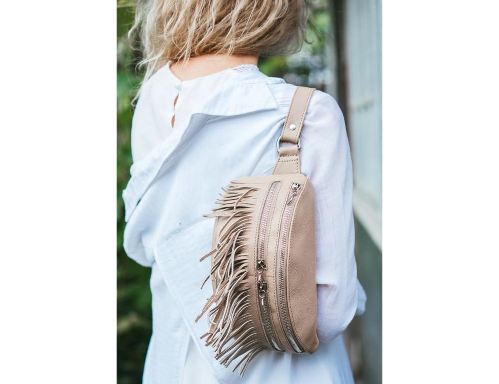 Женская сумка на пояс blanknote SPIRIT BN-BAG-15-crem-brule - Фото № 2