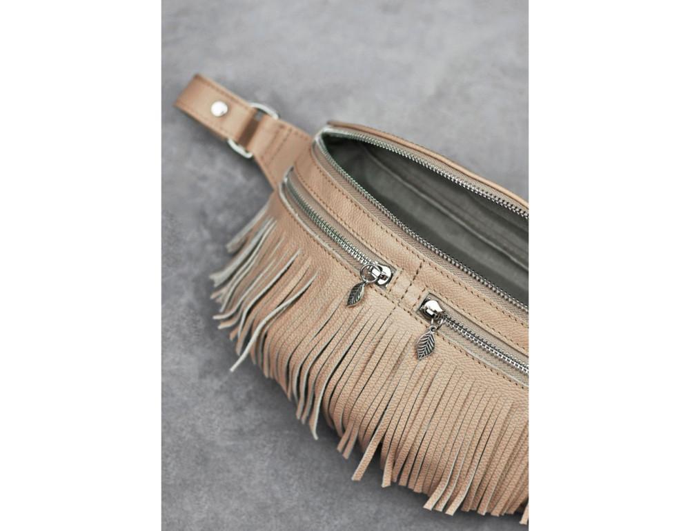 Женская сумка на пояс blanknote SPIRIT BN-BAG-15-crem-brule - Фото № 5