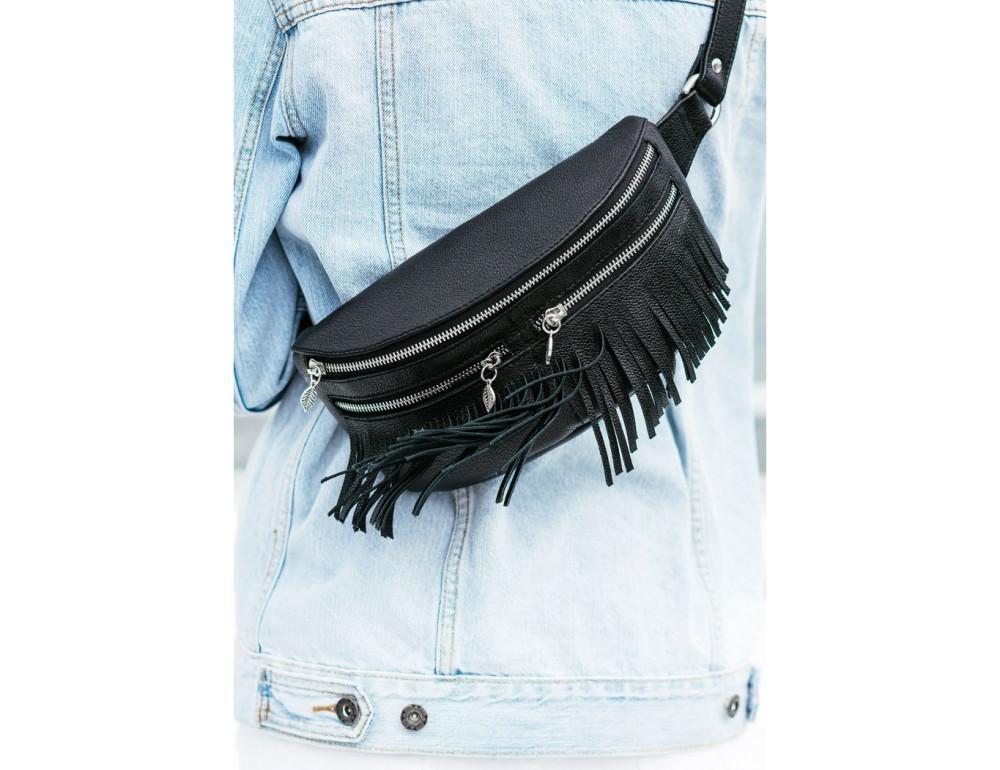 Жіноча сумка на пояс blanknote SPIRIT BN-BAG-15-onyx - Фотографія № 7