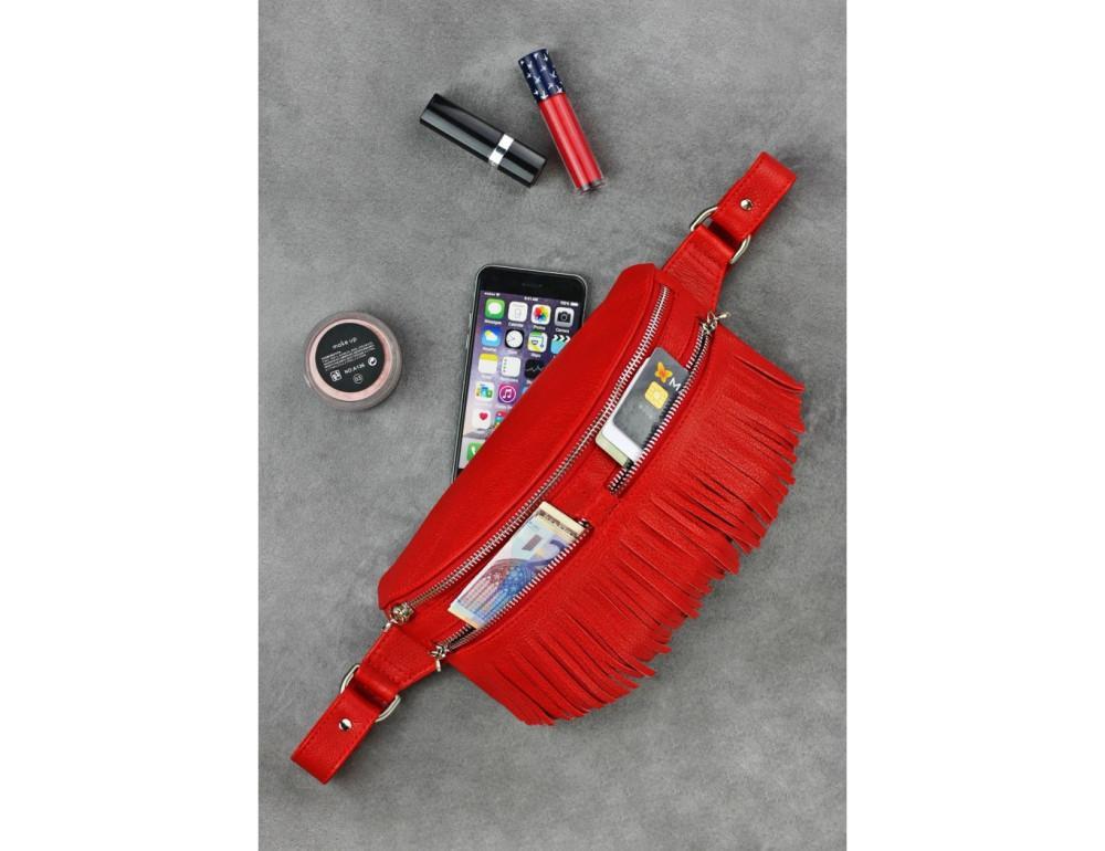 Жіноча сумка на пояс blanknote SPIRIT BN-BAG-15-rubin