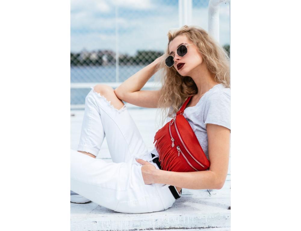 Женская сумка на пояс blanknote SPIRIT BN-BAG-15-rubin - Фото № 2