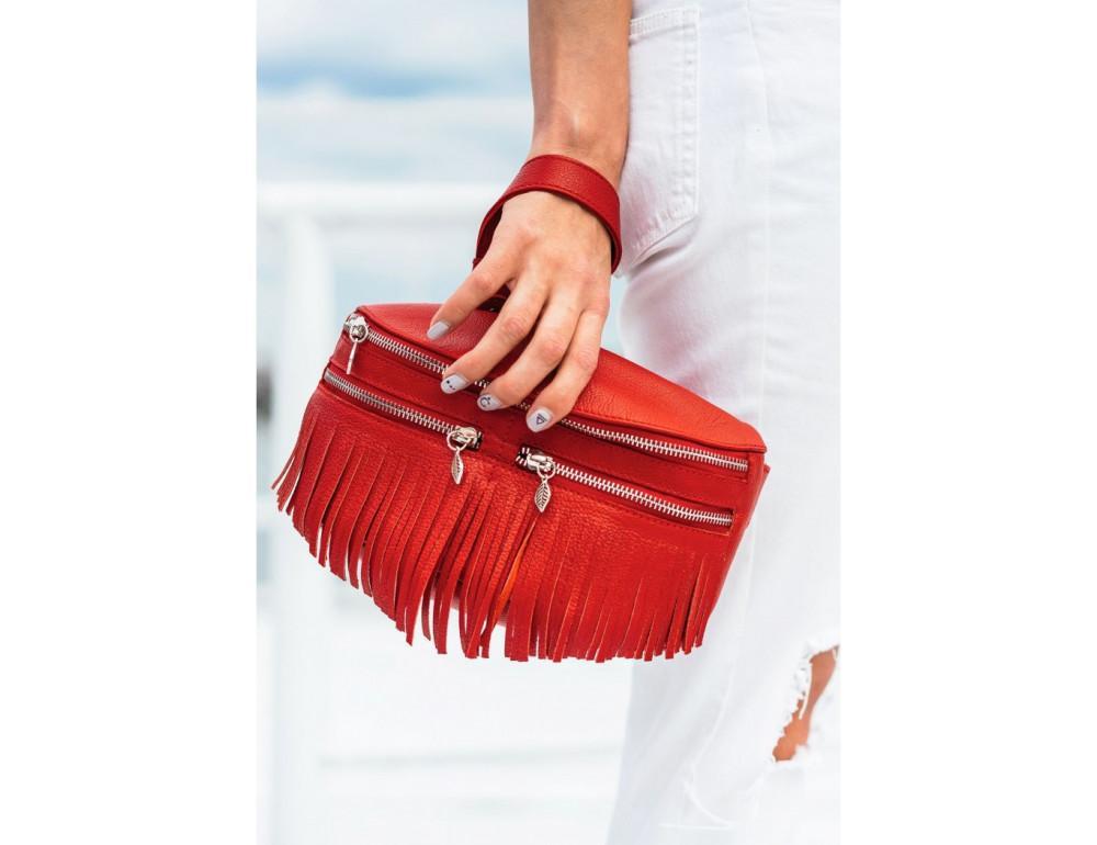 Женская сумка на пояс blanknote SPIRIT BN-BAG-15-rubin - Фото № 3