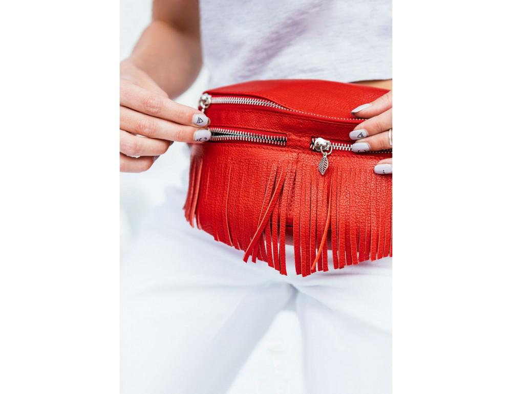 Женская сумка на пояс blanknote SPIRIT BN-BAG-15-rubin - Фото № 8