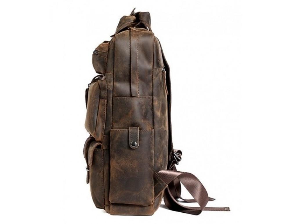 Мужской добротный рюкзак Tiding Bag t3081DB коричневый - Фото № 3
