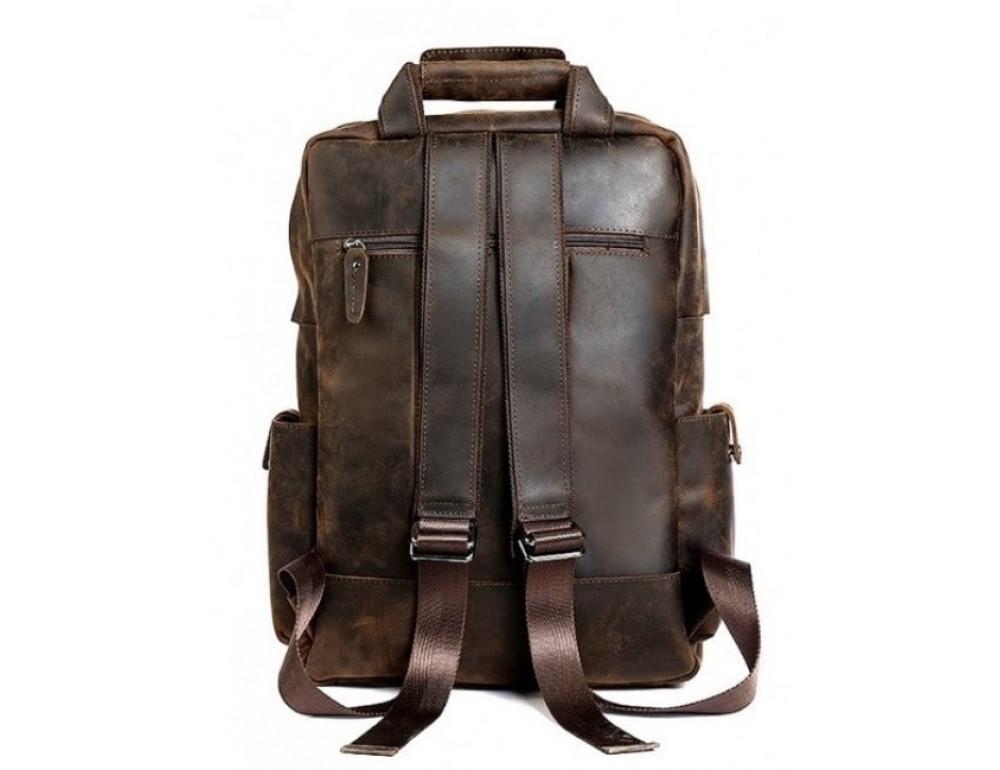 Мужской добротный рюкзак Tiding Bag t3081DB коричневый - Фото № 4