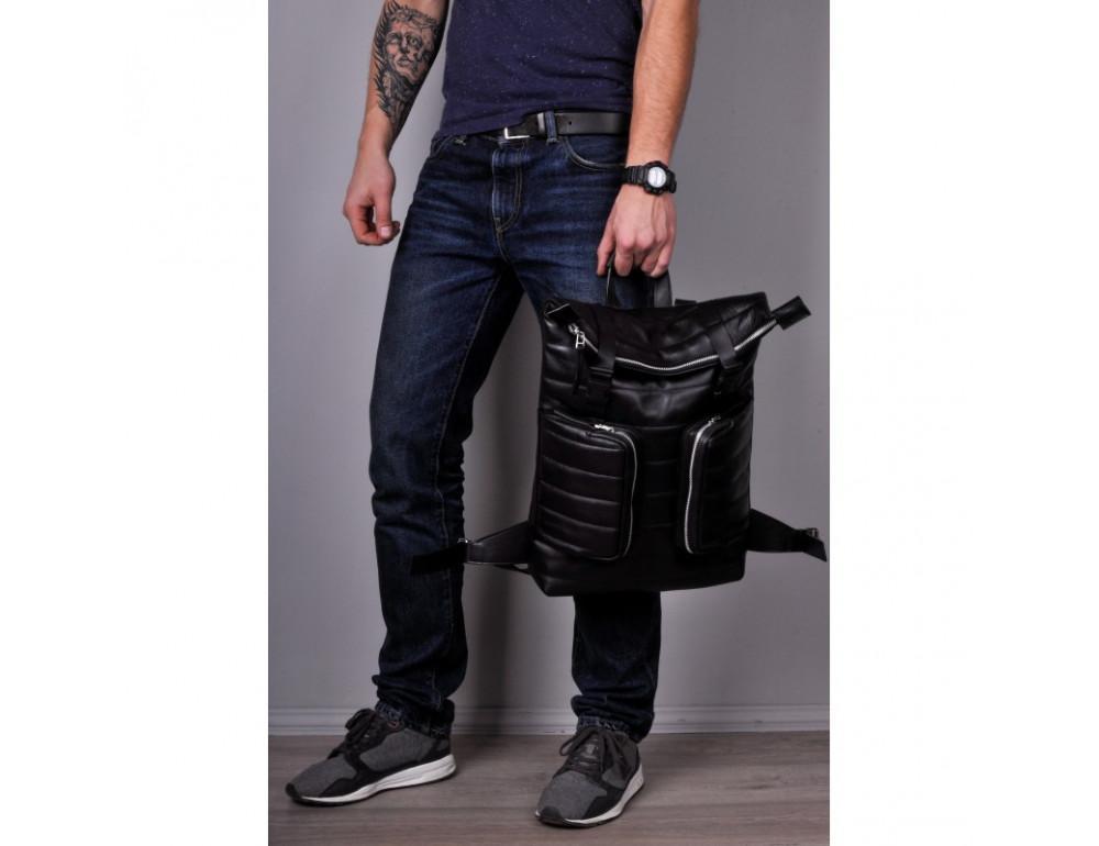 Чоловік шкіряний рюкзак jizuz Motto M403511B - Фотографія № 4