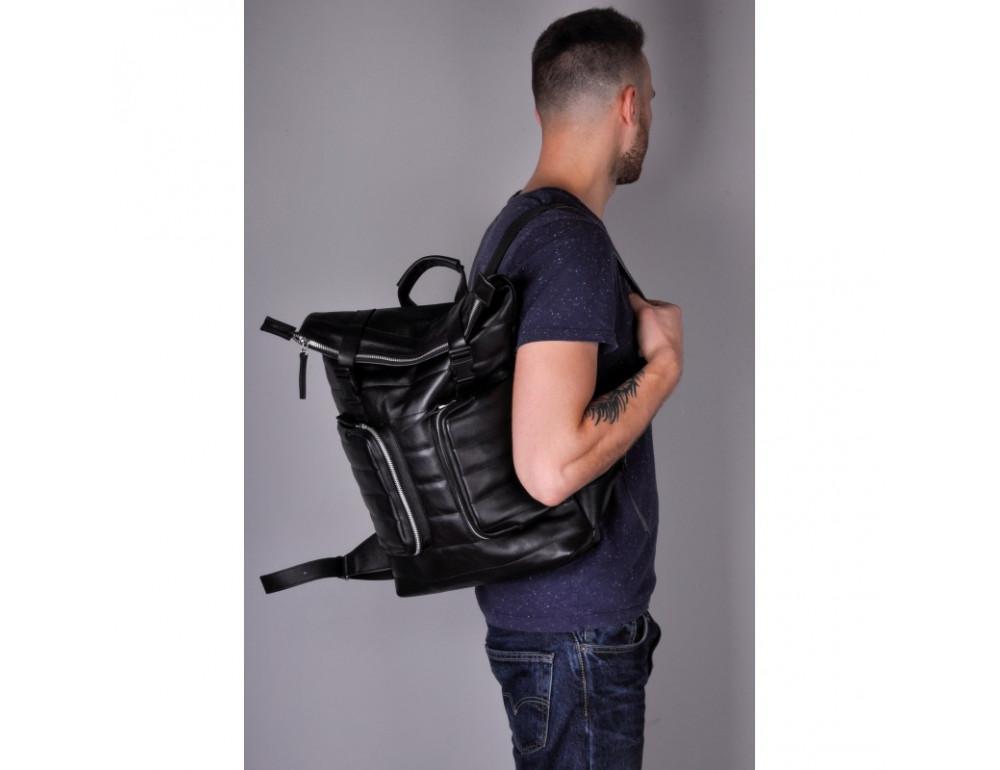 Чоловік шкіряний рюкзак jizuz Motto M403511B - Фотографія № 6