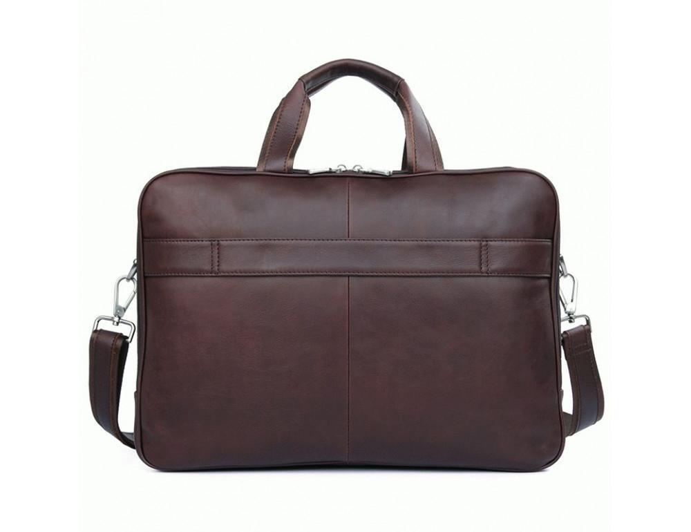 Мужская кожаная сумка на три секции TIDING BAG 7289X - Фото № 2