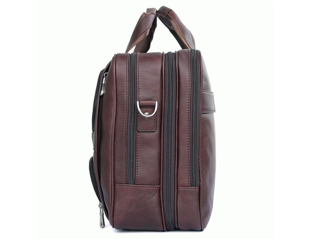 Мужская кожаная сумка на три секции TIDING BAG 7289X - Фото № 3