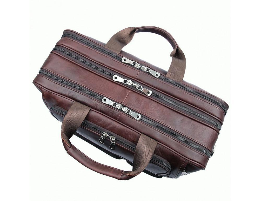 Мужская кожаная сумка на три секции TIDING BAG 7289X - Фото № 5