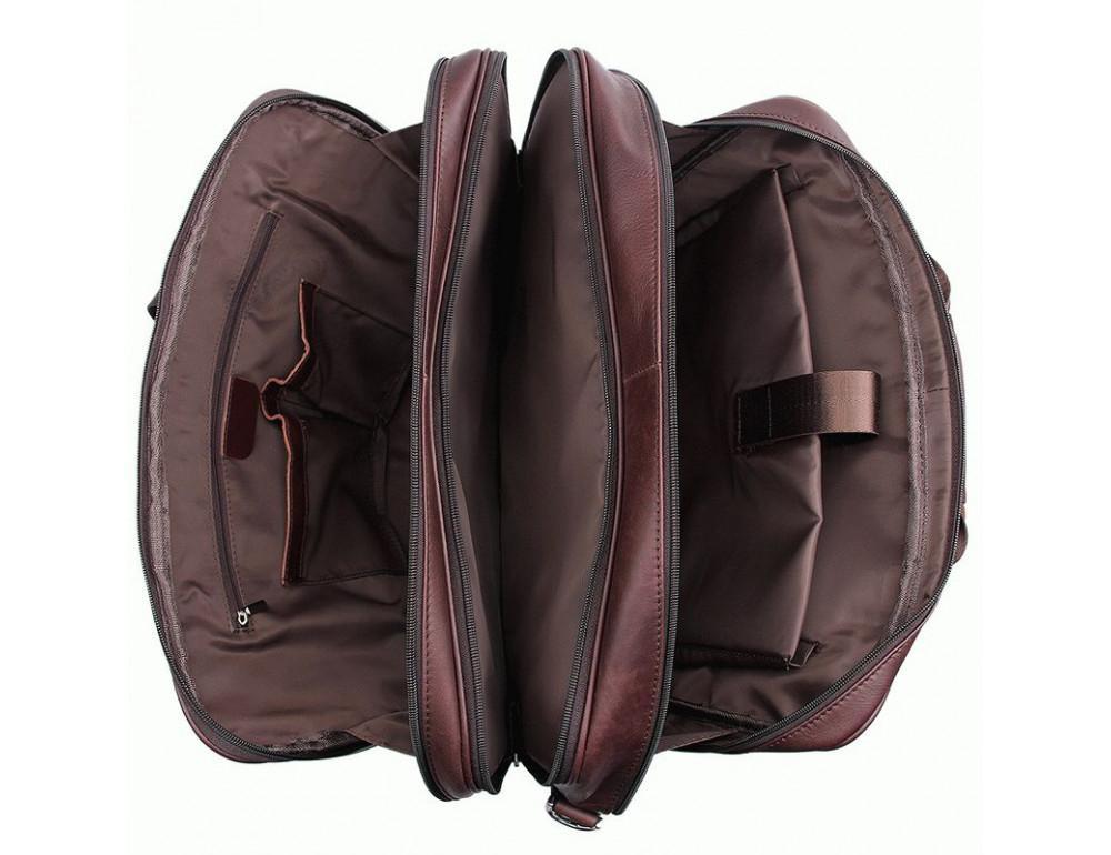 Мужская кожаная сумка на три секции TIDING BAG 7289X - Фото № 6