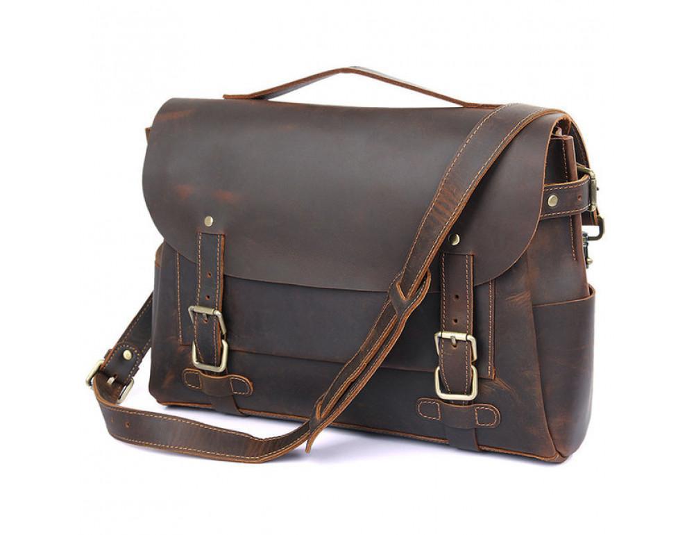Мужская кожаный портфель TIDING BAG 7369R