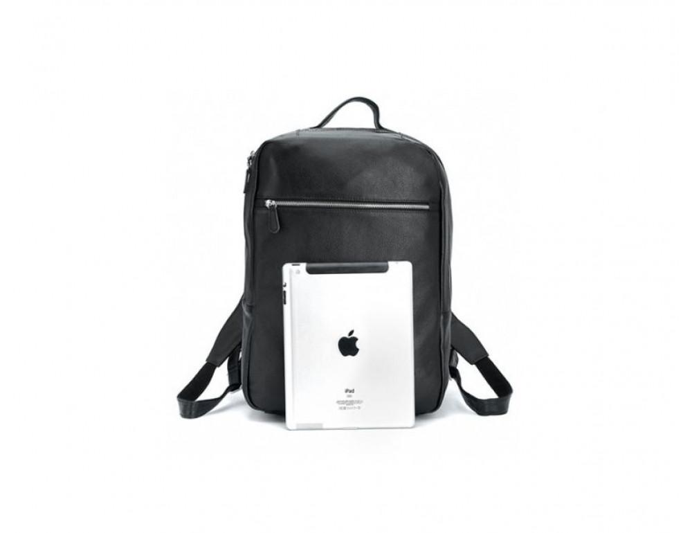 Чоловічий шкіряний рюкзак TIDING BAG T3064 чорний - Фотографія № 4