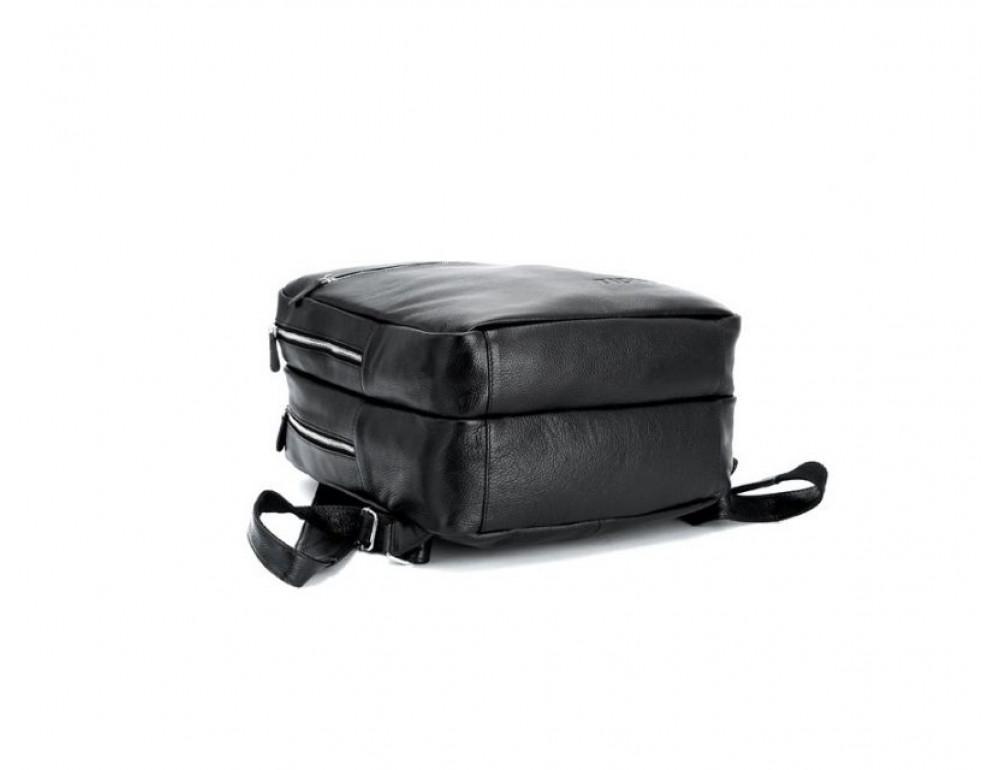 Чоловічий шкіряний рюкзак TIDING BAG T3064 чорний - Фотографія № 5