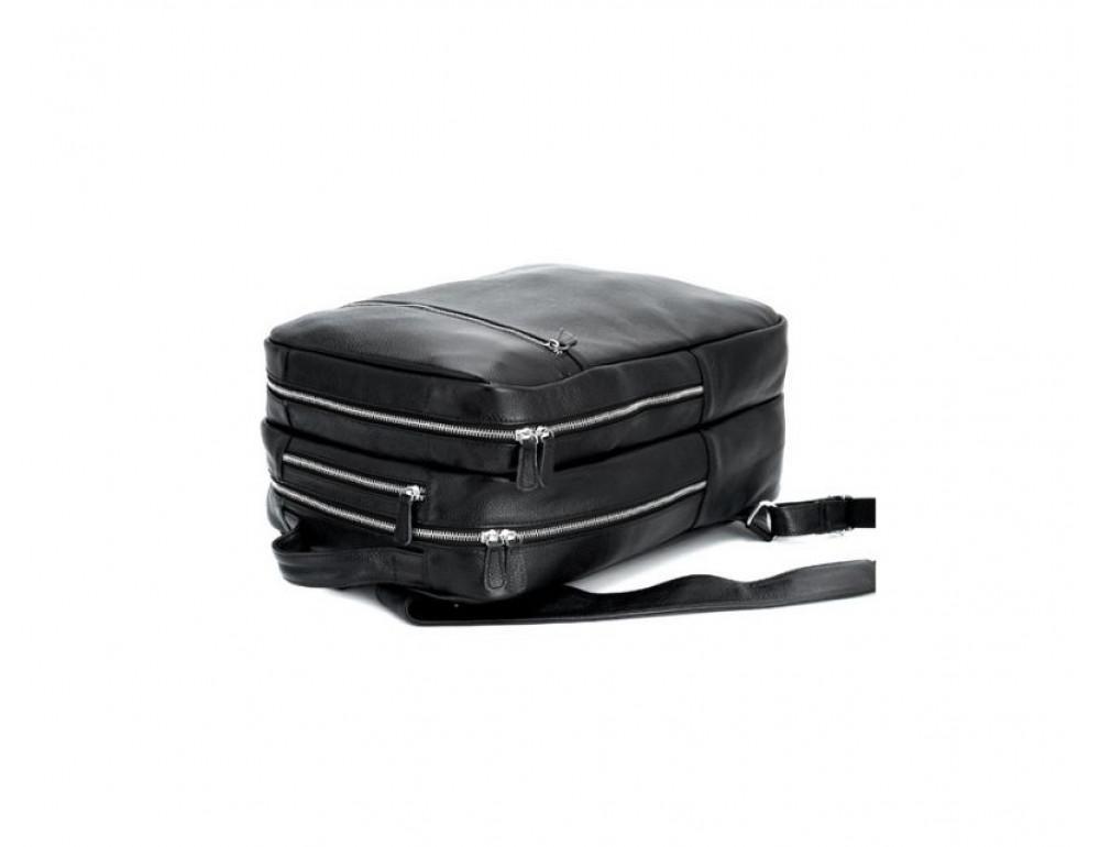 Чоловічий шкіряний рюкзак TIDING BAG T3064 чорний - Фотографія № 6
