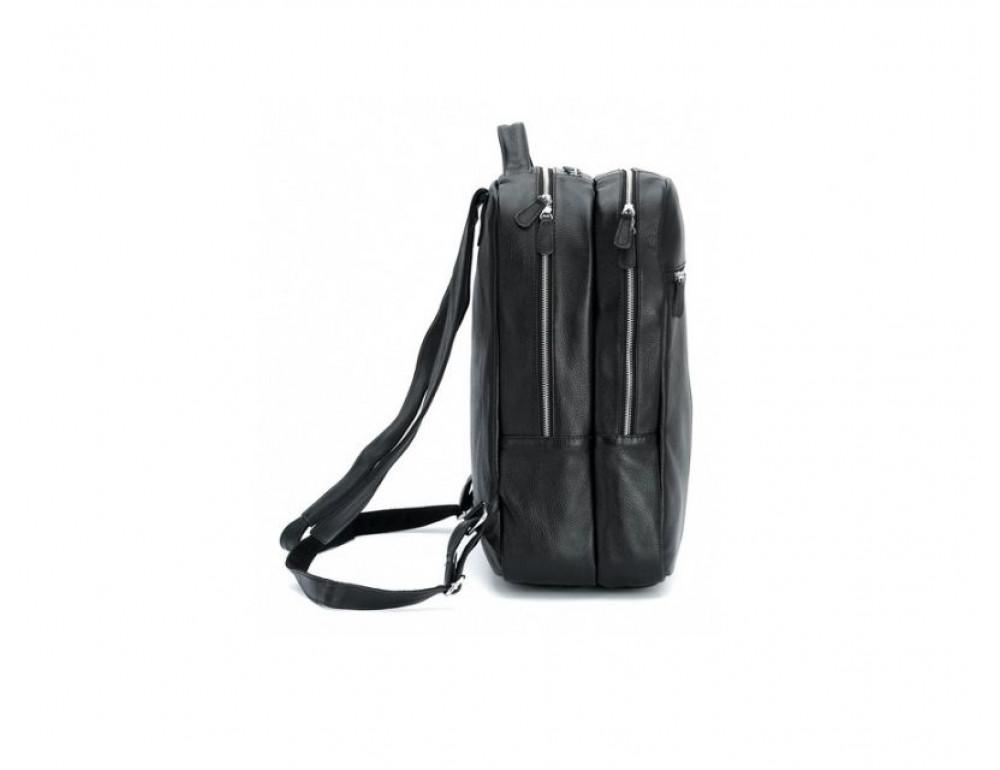 Чоловічий шкіряний рюкзак TIDING BAG T3064 чорний - Фотографія № 7