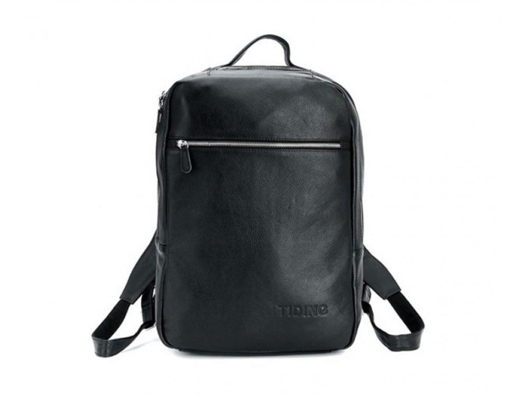 Чоловічий шкіряний рюкзак TIDING BAG T3064 чорний - Фотографія № 9