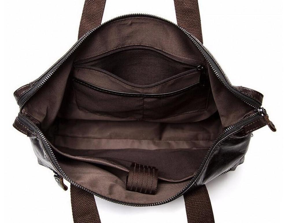 Кожаная сумка под ноутбук (macbook) JASPER MAINE 7120C-2  - Фото № 2