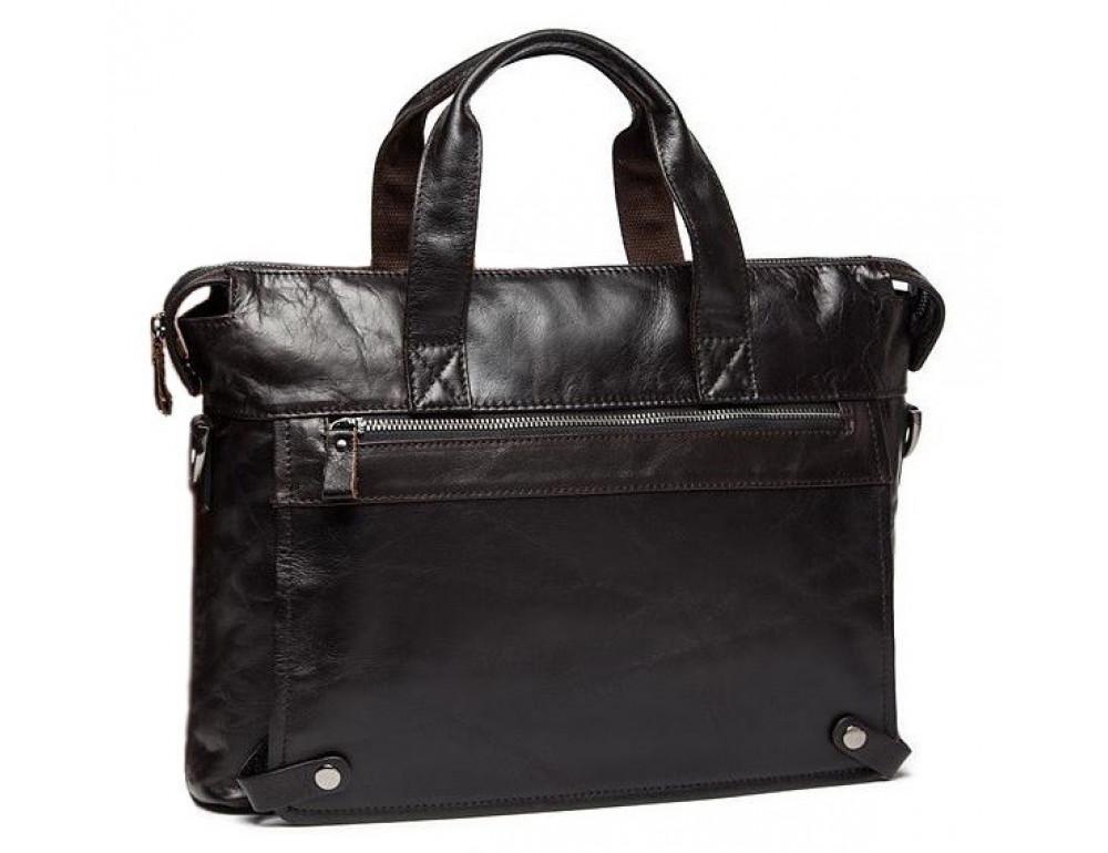 Кожаная сумка под ноутбук (macbook) JASPER MAINE 7120C-2  - Фото № 4
