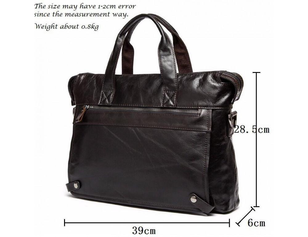 Кожаная сумка под ноутбук (macbook) JASPER MAINE 7120C-2  - Фото № 3
