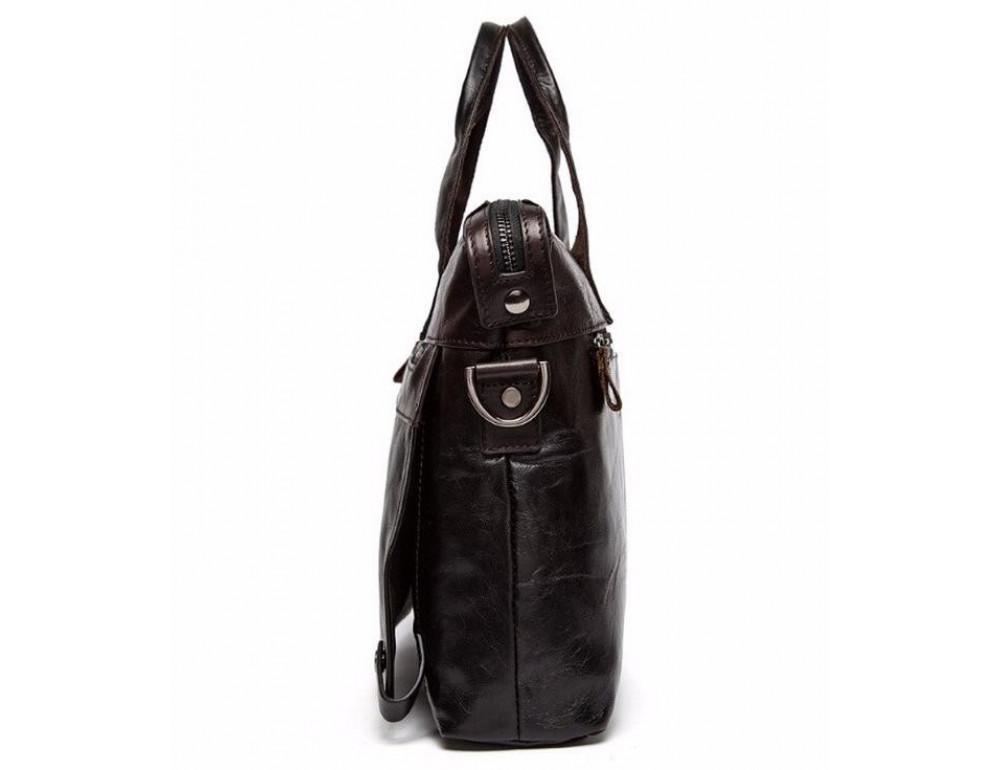 Кожаная сумка под ноутбук (macbook) JASPER MAINE 7120C-2  - Фото № 7