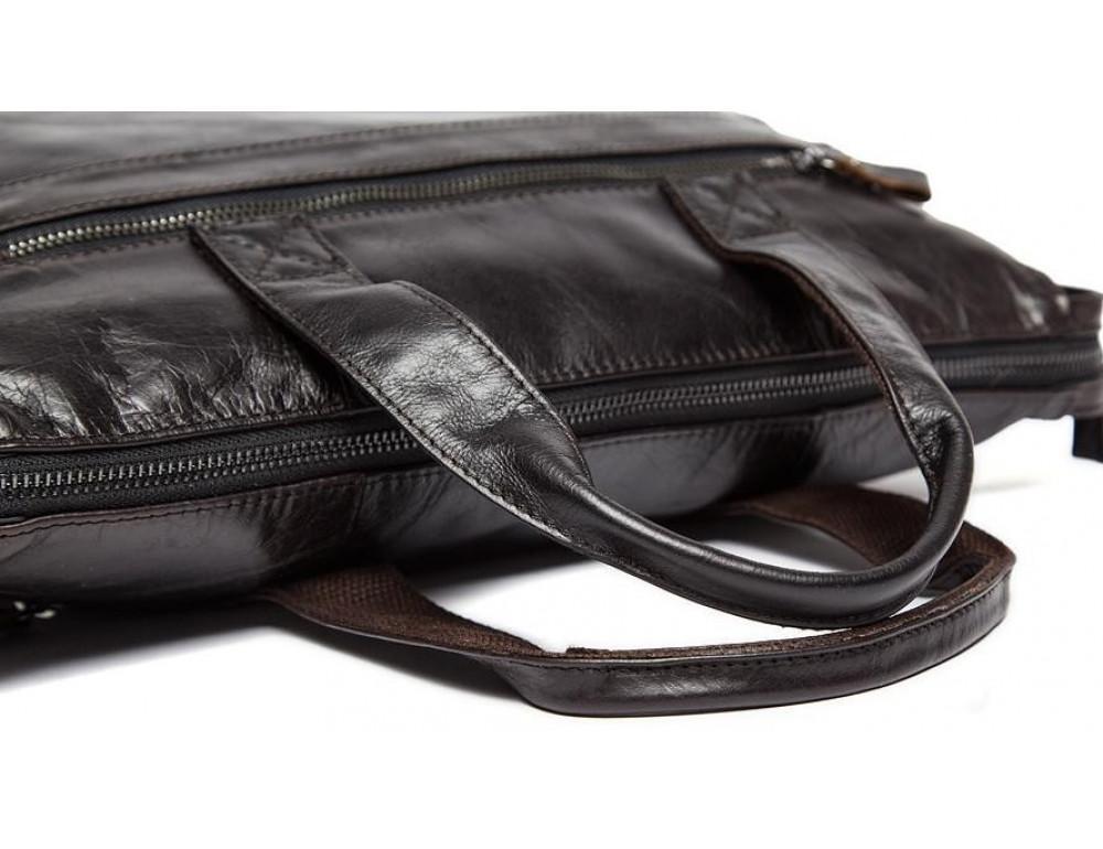Кожаная сумка под ноутбук (macbook) JASPER MAINE 7120C-2  - Фото № 8
