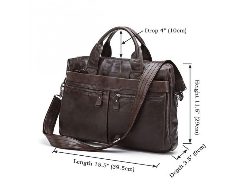 Кожаная сумка для ноутбука JASPER & MAINE 7122C - Фото № 6