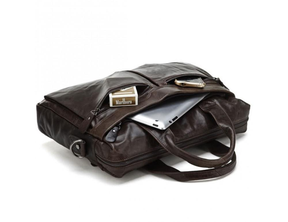 Кожаная сумка для ноутбука JASPER & MAINE 7122C - Фото № 5